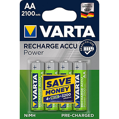 VARTA Ready2Use Akku Mignon AA HR6 4er Blister (2100 mAh)