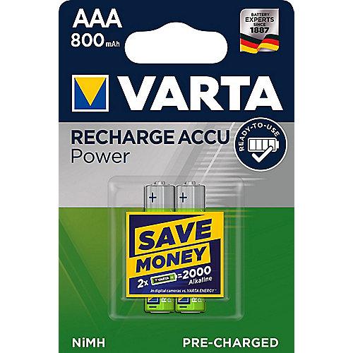 VARTA Ready2Use Akku Micro AAA HR3 2er Blister (800 mAh ...