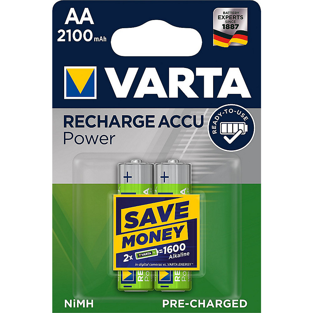 VARTA Ready2Use Akku Mignon AA HR6 2er Blister (2100 mAh)