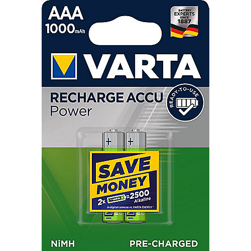 VARTA Ready2Use Akku Micro AAA HR3 2er Blister (1000 mAh)