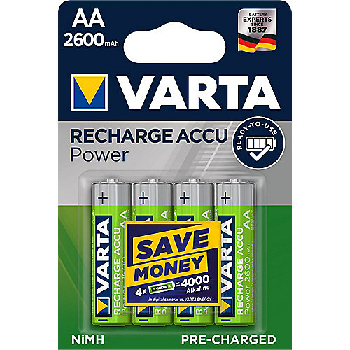 VARTA Ready2Use Akku Mignon AA HR6 4er Blister (2600 mAh)