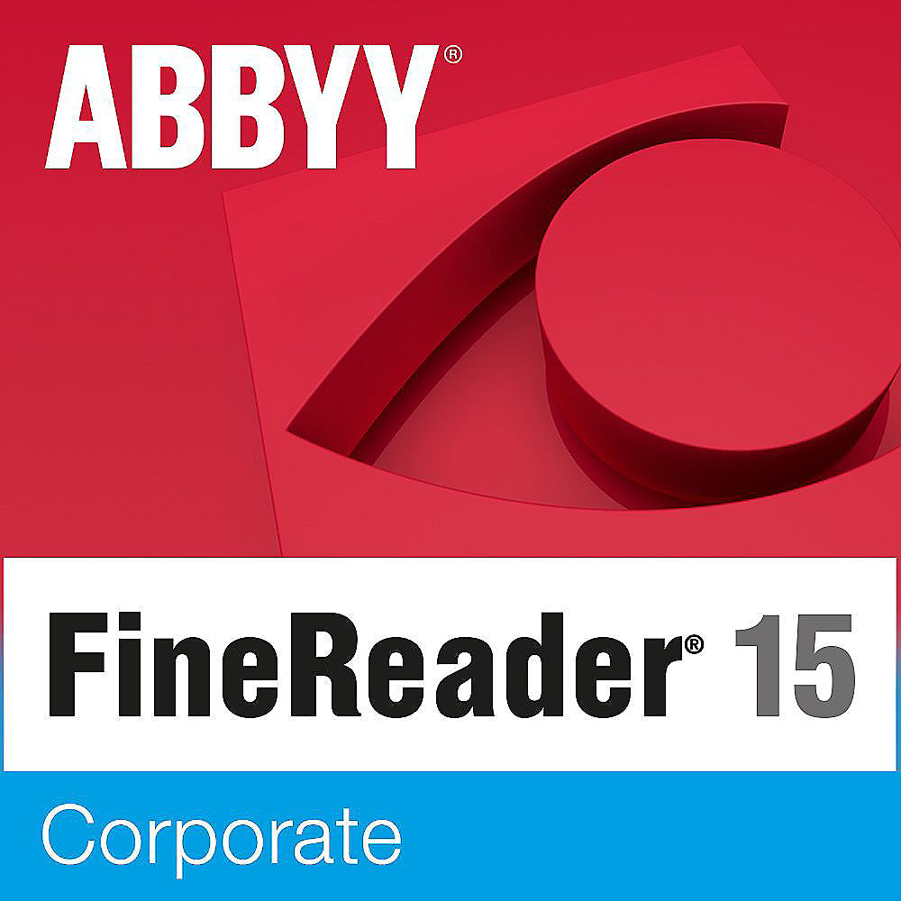 ABBYY FineReader 15 Corporate Lizenz (Staffel 5-10 User) Win ESD EDU
