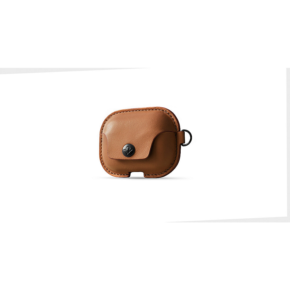 Twelve South AirSnap Pro - Leder Etui für Apple Airpod Pro cognac