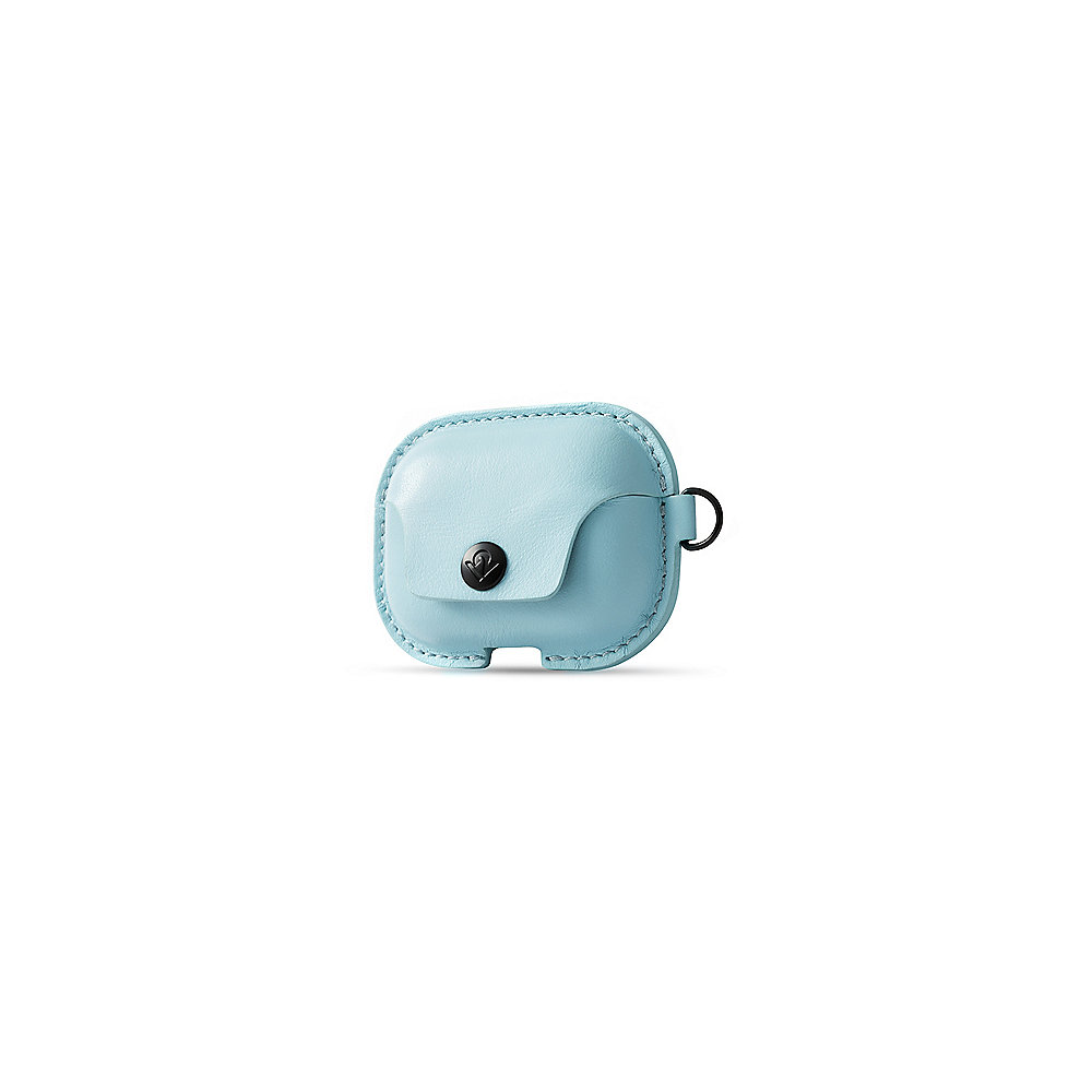 Twelve South AirSnap Pro - Leder Etui für Apple Airpod Pro slate blue