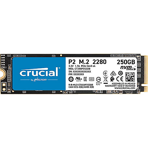 Crucial P2 SSD 250GB M.2 PCIe NVMe