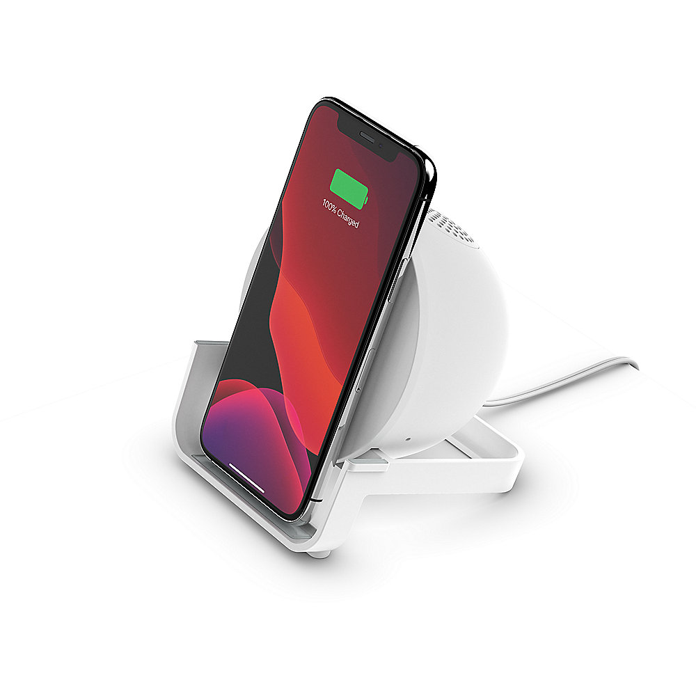 Belkin BoostCharge Wireless Charging Stand und Speaker weiss
