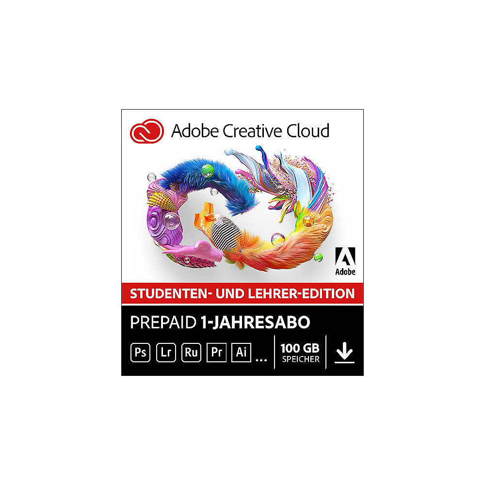 [cyberport.at] Adobe Creative Cloud Individual Student & Teacher Edition 1Jahr um 149,90€