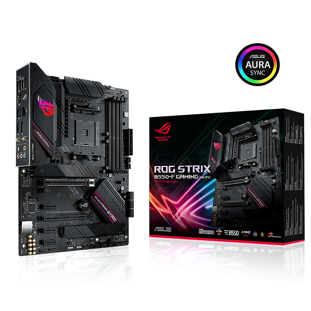ASUS ROG Strix B550-F Gaming Wi-FI ATX Mainboard Sockel AM4 M.2/USB3.2/HDMI/DP