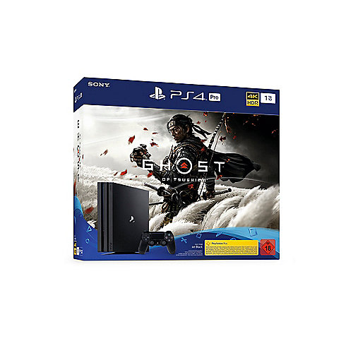 Sony PlayStation 4 Pro 1TB Konsole schwarz Ghost of Tsushima