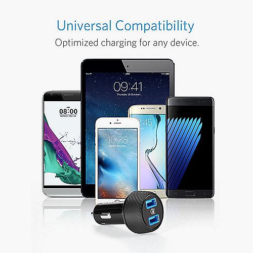 Anker PowerDrive Speed 2QC UN 39W 2 Port USB Kfz Ladegerät