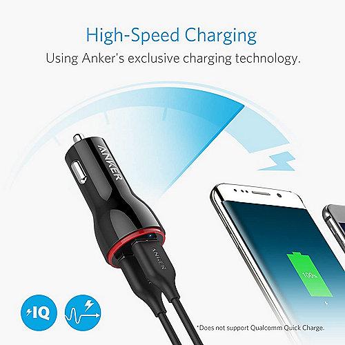 Anker 24W 2 Port USB Ladegerät mit PowerIQ Technologie für 9