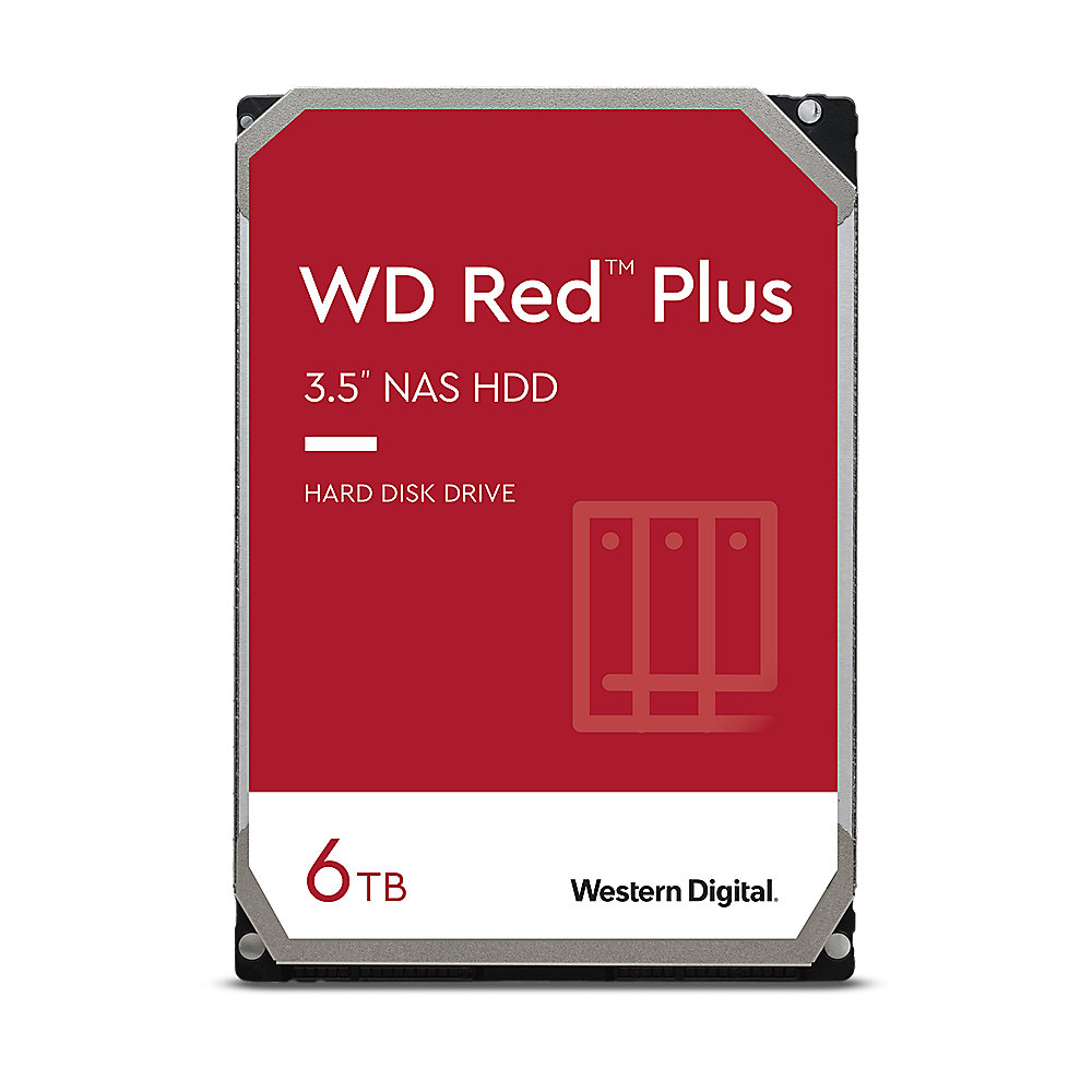 WD Red Plus WD60EFRX - 6TB 5400rpm 64MB 3,5 Zoll SATA 6 Gbit/s