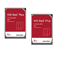 WD Red Plus 2er Set WD40EFRX - 4TB 5400rpm 64MB 3,5 Zoll SATA 6 Gbit/s