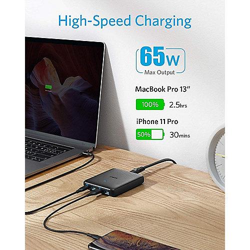 Anker PowerPort Atom III Slim USB C Ladegerät, 65W 4 Port