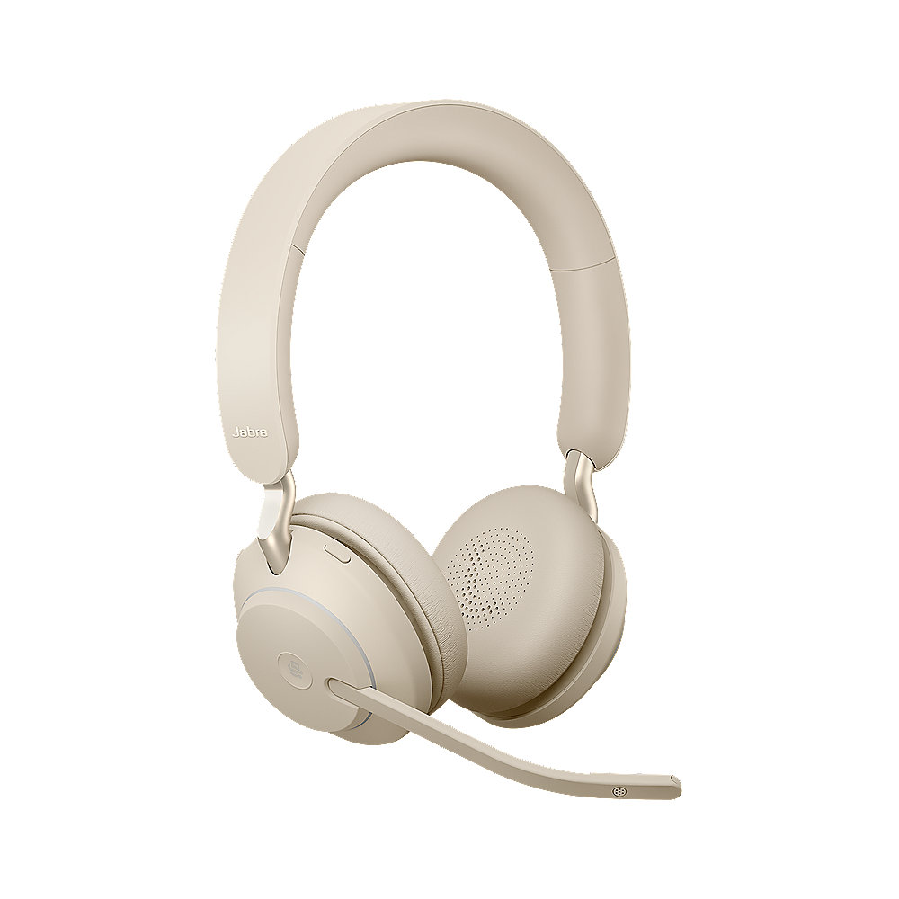 Jabra Evolve 2 65 MS Wireless Bluetooth Stereo Headset beige
