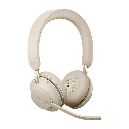 Jabra Evolve 2 65 MS Wireless Bluetooth Stereo USB-C Headset beige
