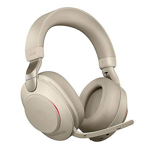 Jabra Evolve 2 85 UC Wireless Bluetooth Stereo Headset beige