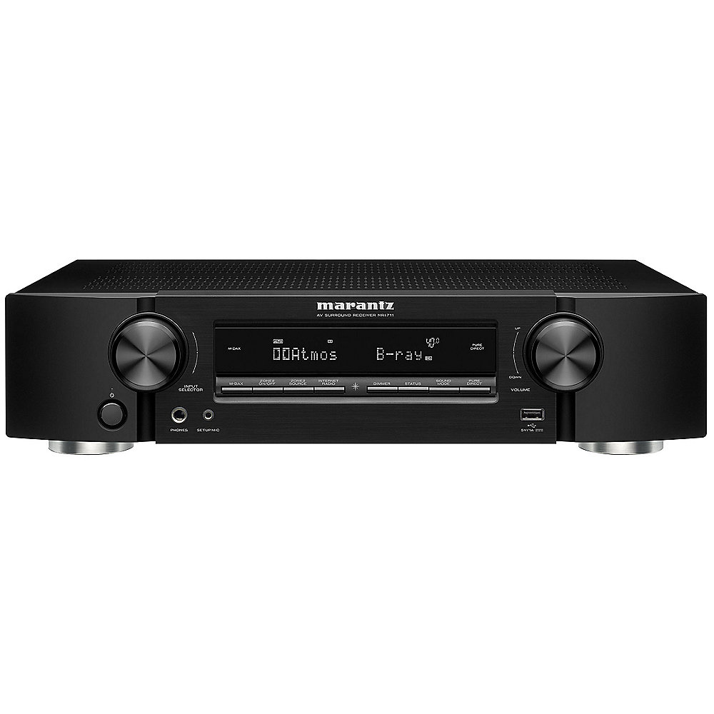 Marantz NR1711 7.2 AV Receiver 8K AirPlay WLAN BT Spotify Heos - Schwarz slim