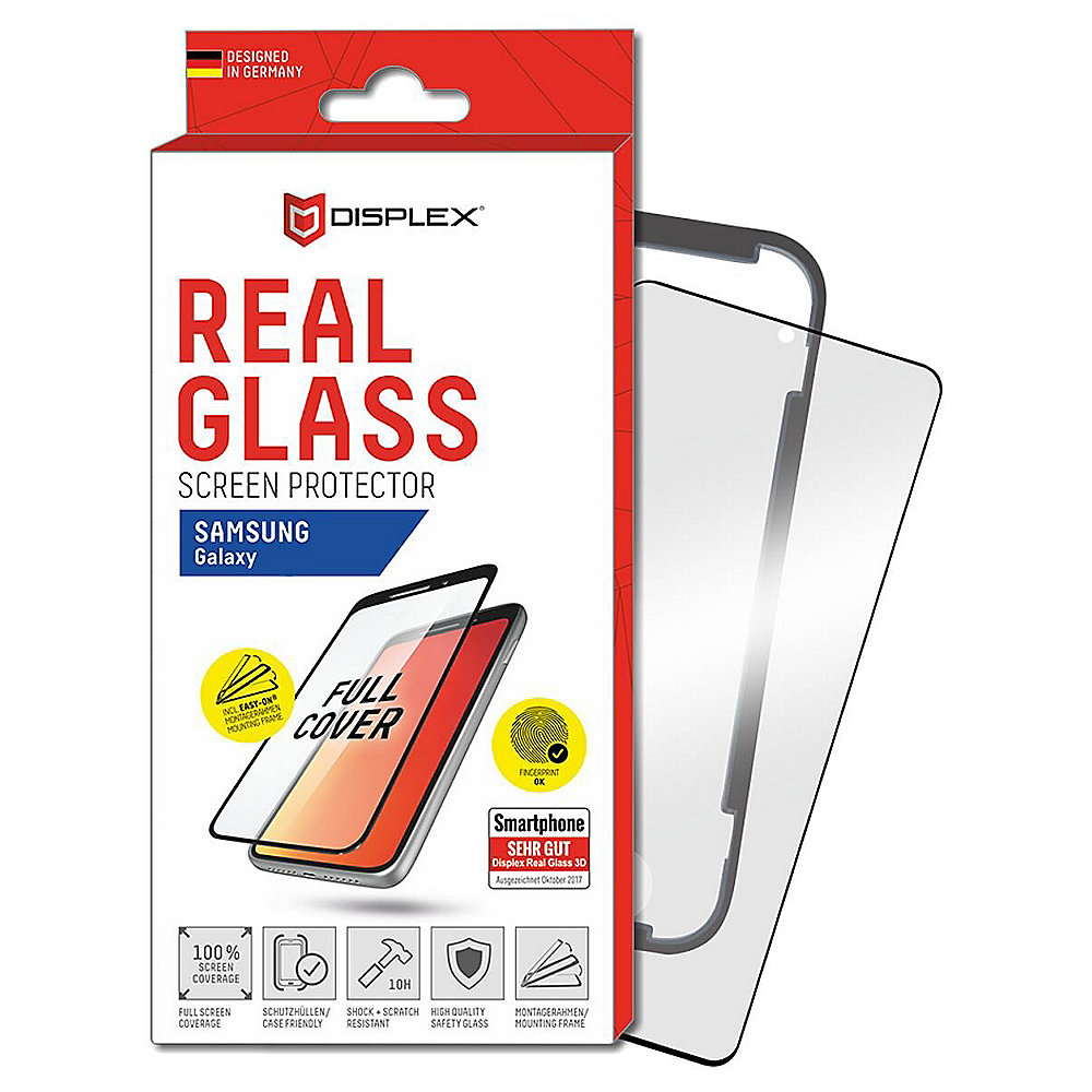 Displex Displayschutz Real Glass 3D für Samsung Galaxy Note 20+ schwarz