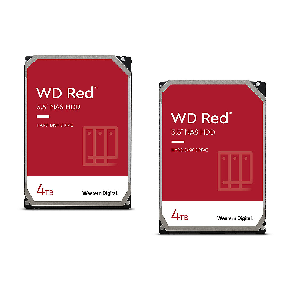 WD Red 2er Set WD40EFAX - 4TB 5400rpm 256MB 3,5 Zoll SATA 6 Gbit/s