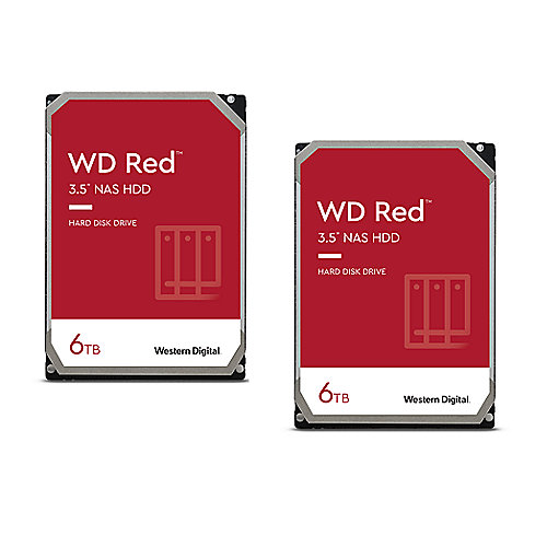 WD Red 2er Set WD60EFAX - 6TB 5400rpm 256MB 3,5 Zoll SATA 6 Gbit/s