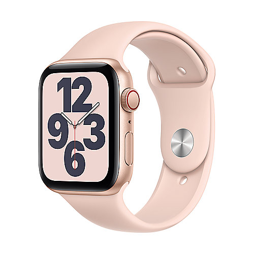 Apple Watch Series SE LTE 44mm Aluminiumgehäuse Gold Sportarmband Sandrosa