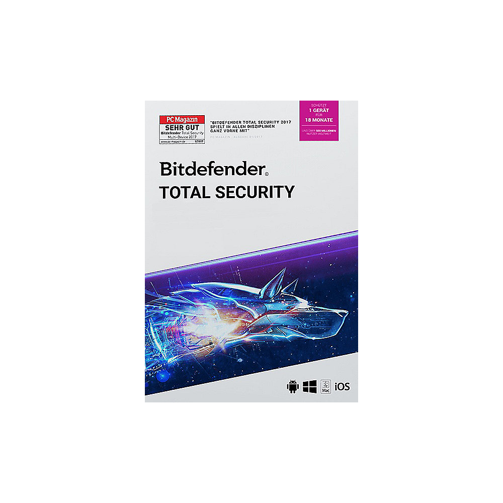 Bitdefender Total Security 2021 1 Gerät / 18 Monate
