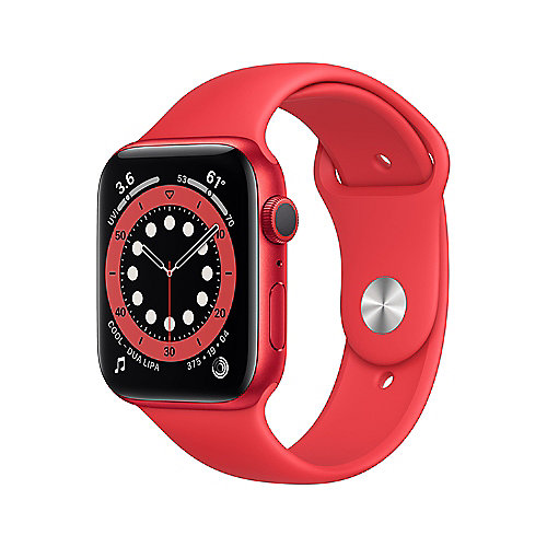 Apple Watch Series 6 GPS 44mm Aluminiumgehäuse PRODUCT(RED) Sportarmband Rot