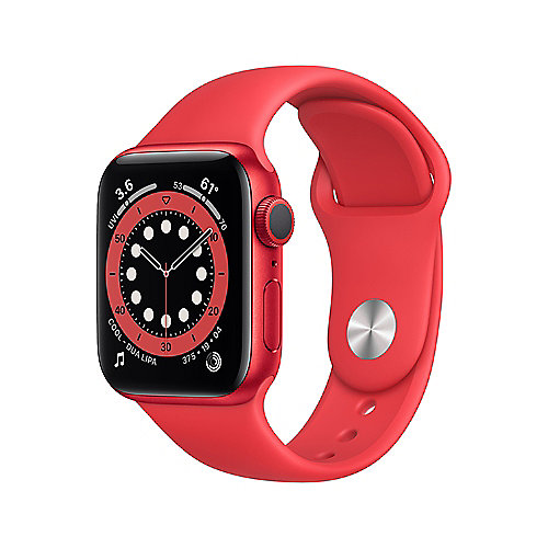 Apple Watch Series 6 GPS 40mm Aluminiumgehäuse PRODUCT(RED) Sportarmband Rot