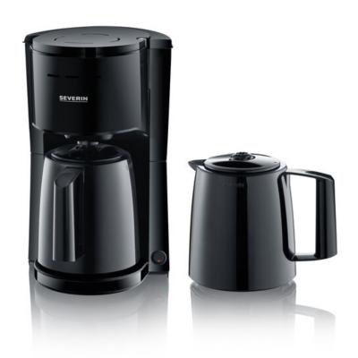 Severin KA 9252 Filterkaffeemaschine 2 Thermokannen schwarz