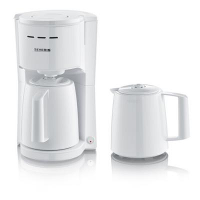 Severin KA 9256 Filterkaffeemaschine 2 Thermokannen weiß