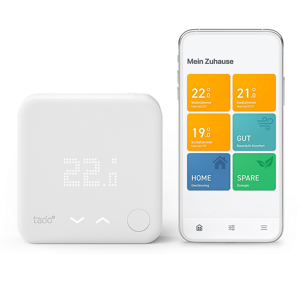 tado° Starter Kit - Smartes Wireless Thermostat V3+ Funk inkl. Bridge