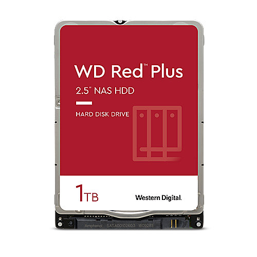 WD Red Plus WD10JFCX - 1 TB 5400 rpm 16 MB 2,5 Zoll SATA 6 Gbit/s