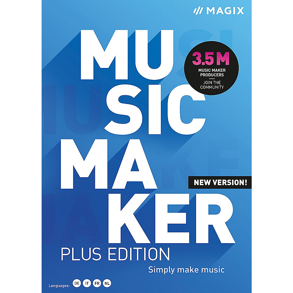 MAGIX Music Maker Plus Edition 2021 ESD DE