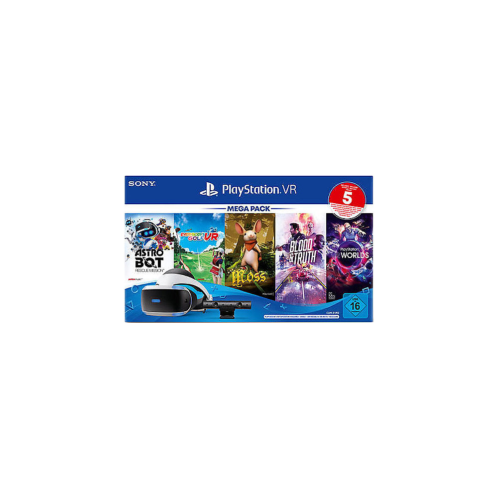 Sony PlayStation VR Mega Pack + 5 Spiele Bundle - PS4 Virtual Reality