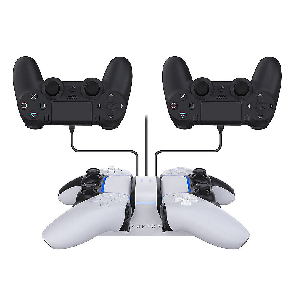 Raptor Gaming Dual Ladestation für Controller Playstation 4 / 5 CS200-U