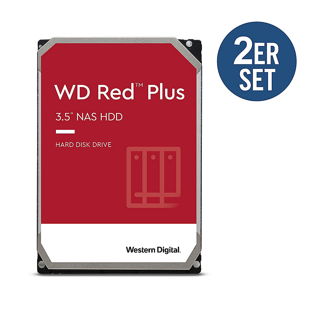 WD Red Plus 2er Set WD20EFZX - 2 TB 5400 rpm 128 MB 3,5 Zoll SATA 6 Gbit/s