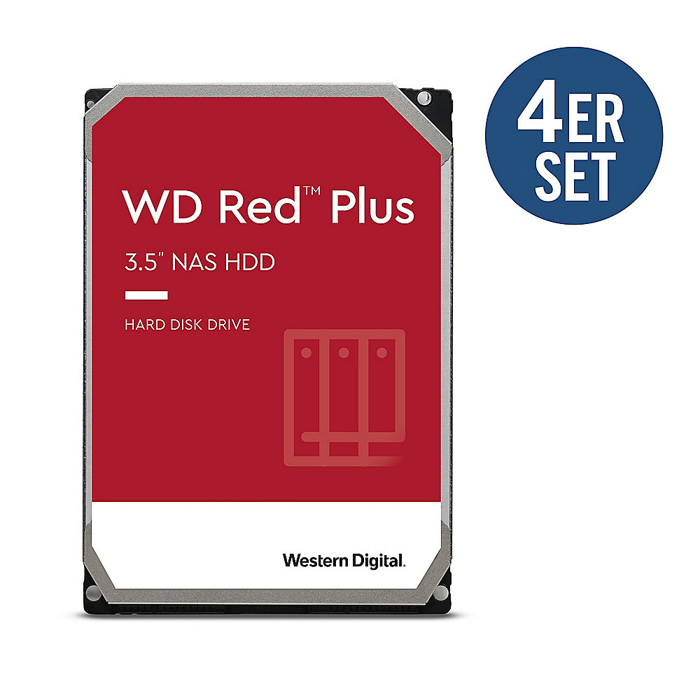 WD Red Plus 4er Set WD40EFZX - 4 TB 5400 rpm 128 MB 3,5 Zoll SATA 6 Gbit/s
