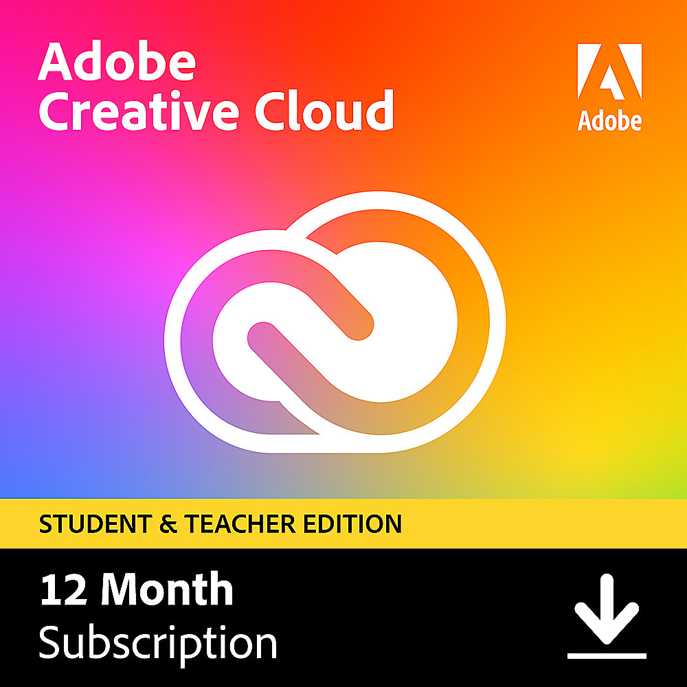Adobe Creative Cloud Individual Student & Teacher Edition 1Jahr - Aktion*