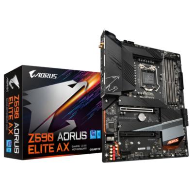 Gigabyte Z590 AORUS ELITE AX ATX Mainboard Sockel 1200 DP 3xM.2 USB3.2 WIFI BT