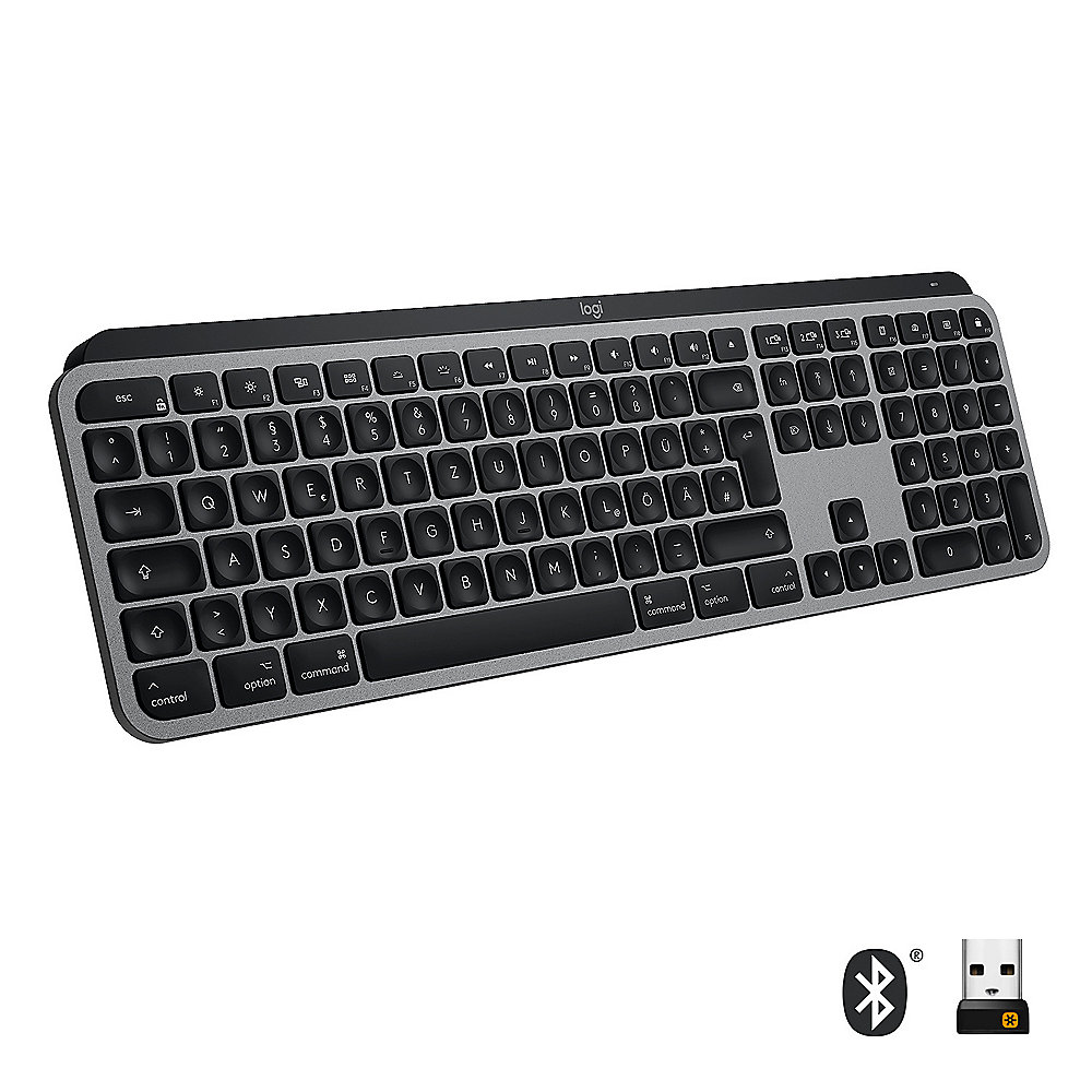 Logitech MX Keys für Mac Kabellose Tastatur Space Grey