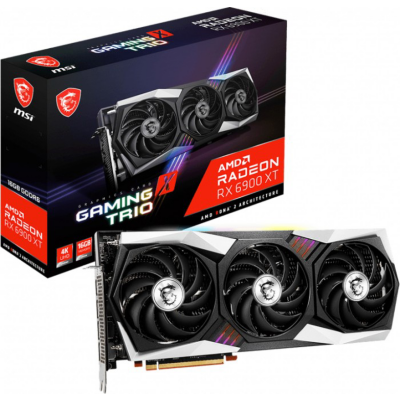 MSI AMD Radeon RX 6900 XT Gaming X Trio 16GB Grafikkarte GDDR6 HDMI 3x DP