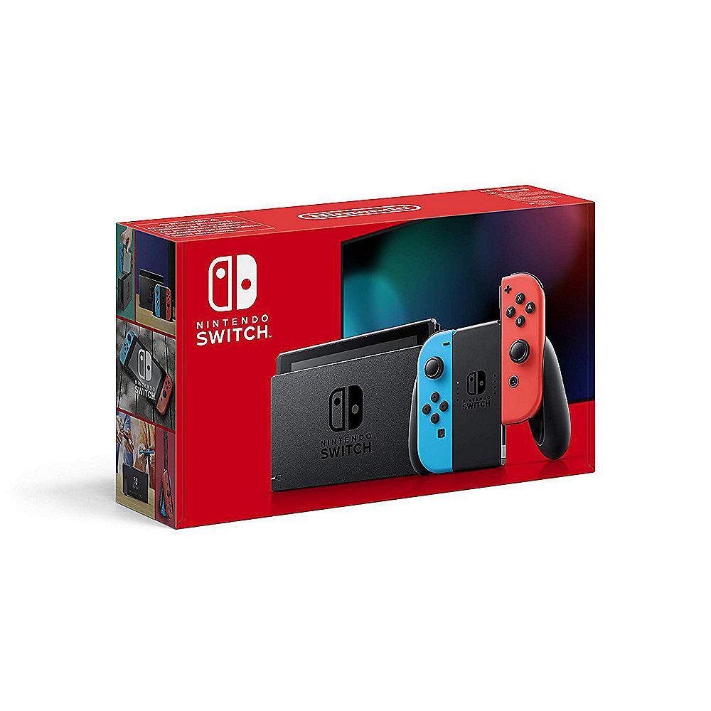 Nintendo Switch Konsole mit verbesserter Akkuleistung rot blau + extra 2  Joy-Con ++ Cyberport